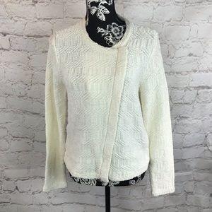 Loft zip cardigan sweater